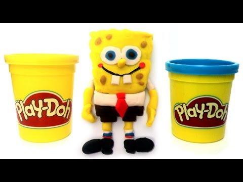 Play Doh How to make Spongebob Squarepants Bob Esponja