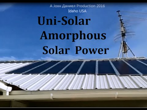 Amorphous Thin Film Solar Panel almost makes power in the da