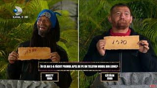 Survivor - Situatie unica la QUIZ GAME! Morosanu si Musty au dat acelasi raspuns! Razultatul final..