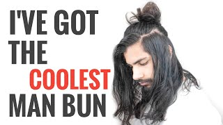Check out this meṡsy Man Bun - I bet you've never seen anything like this