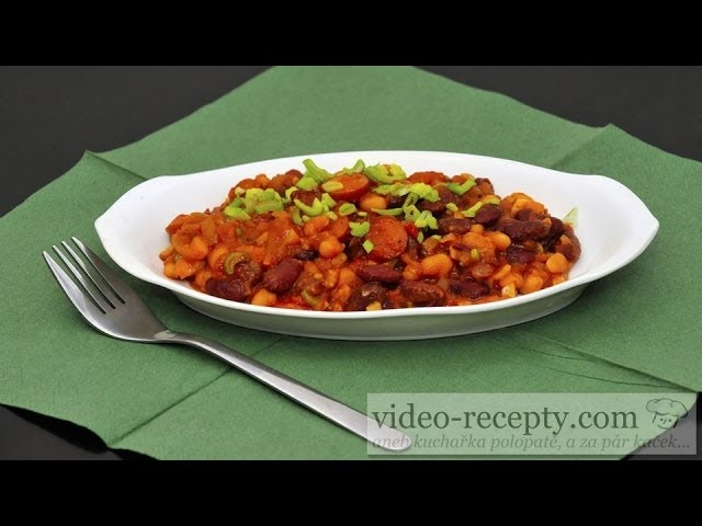 Kovbojské fazole s uzeninou - videorecept