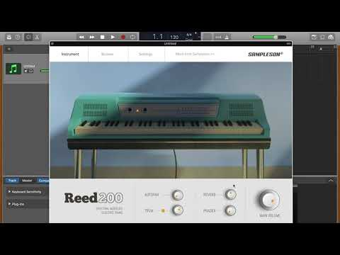 Reed200-V2 Modeled Electric Piano - Sound and user interface quick test