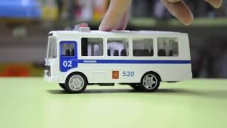 """Gambar cover Игрушка автобус ПАЗ 3205 полиция 02 """"ТехноПарк"""" 134331"""