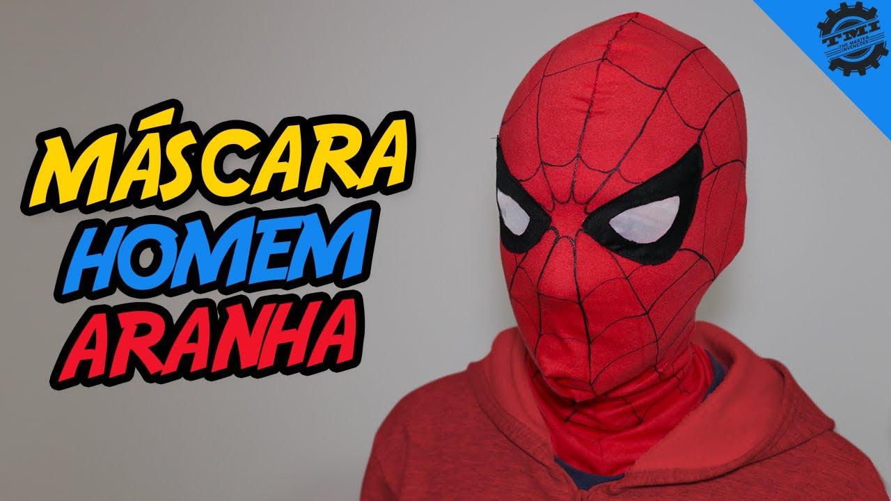 Como Fazer A Mascara Do Homem Aranha Youtube