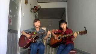 Tình mẹ (guitar cover) by Poom Lê and Hân Lê
