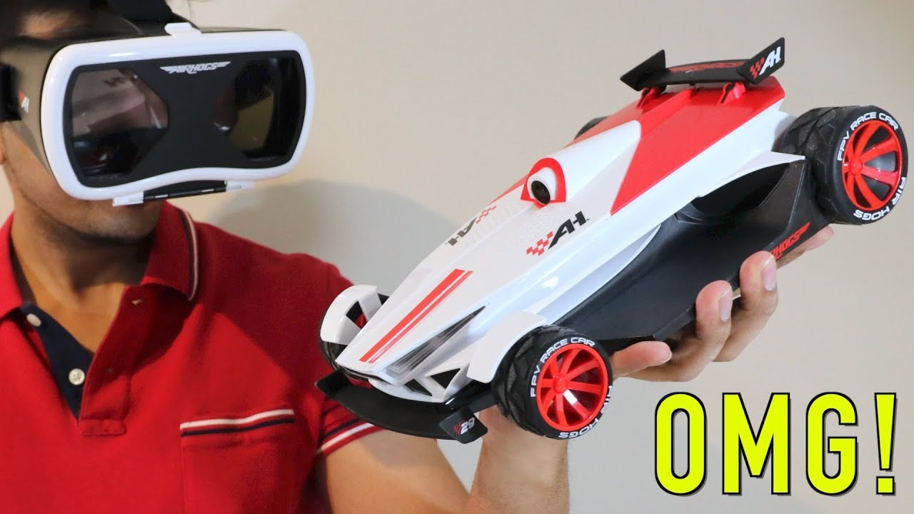 Unboxing Lets Play Fpv High Speed Race Car By Air Hogs First
