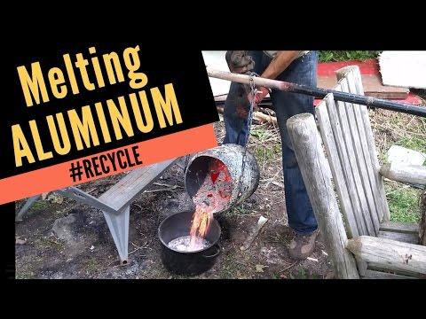 Melting Aluminum Scrap in Propane Tank