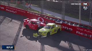 Aussie Racing Cars Championship 2018. Race 1 Surfers Paradise Street Circuit. Crash