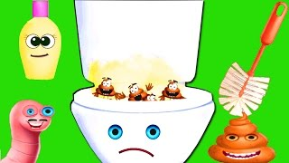 Baby Toilet Training & Race Game Cleanup Fun - Teach Kids Daily Routine Potty with Baby Cars