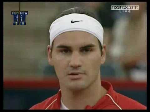 Federer Hewitt Hamburg 2004 semi-final set 2
