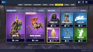 Fortnite Battle Royale item shop(12-1-18)*new skins*