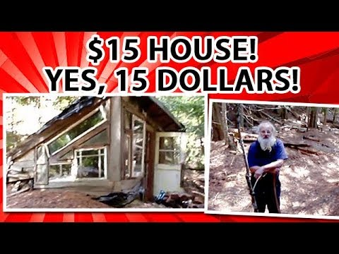 $15 earth berm eco house filmed 30 years later - YouTube