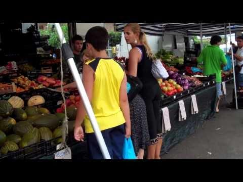 Market in Olbia, Italy
