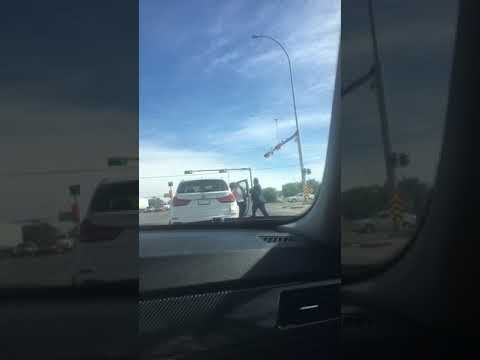 Road Rage Incident Turns Physical - Street Fight in Calgary, AB Canada
