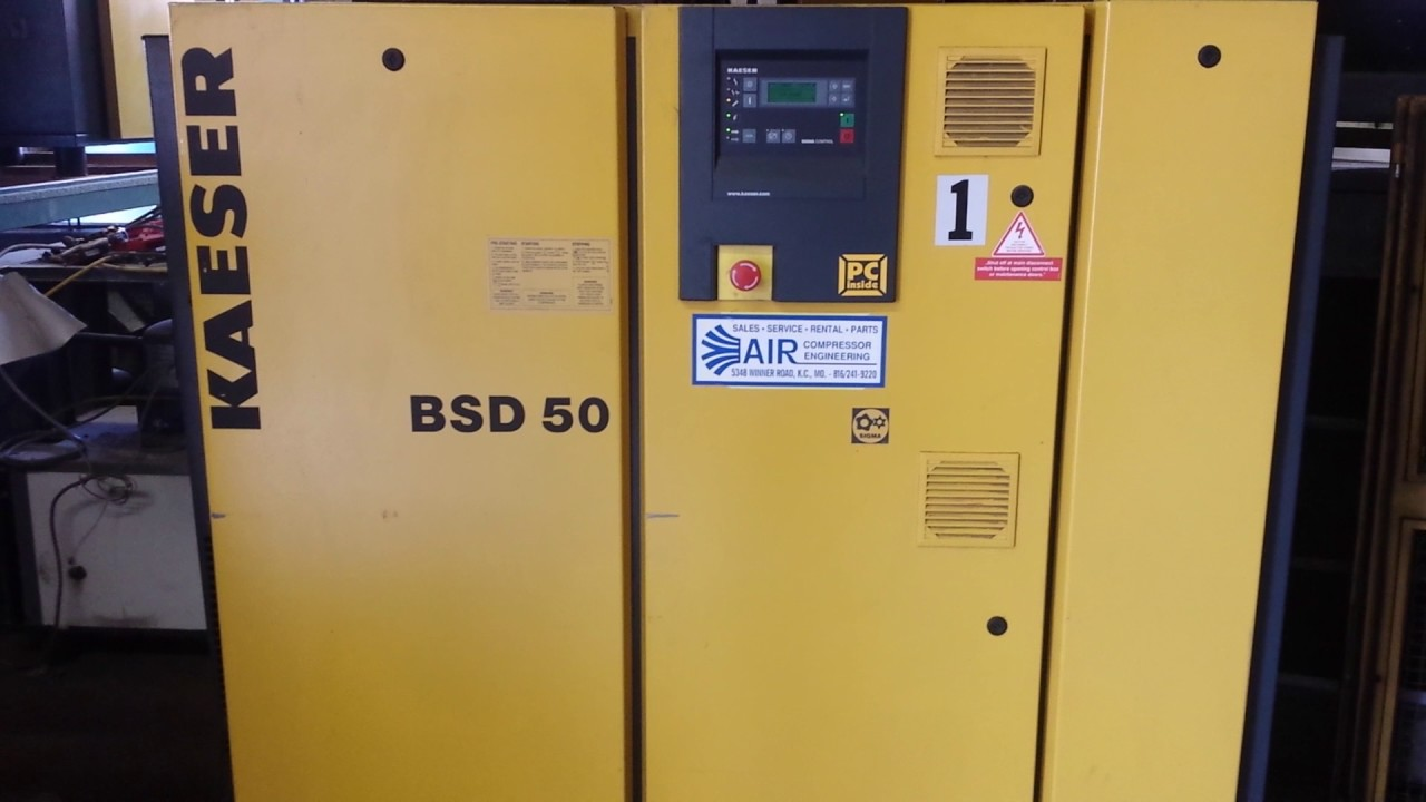 kaeser bsd 50 50hp rotary screw air compressor youtube rh youtube com Kaeser BS 61 Manual Kaeser As36 Manual