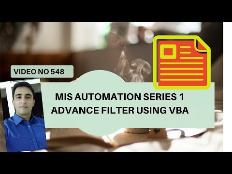 Learn Excel - Video 548 - MIS Automation Projects - Series 1