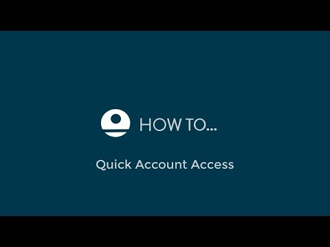 RMS 9+ Quick Account Access