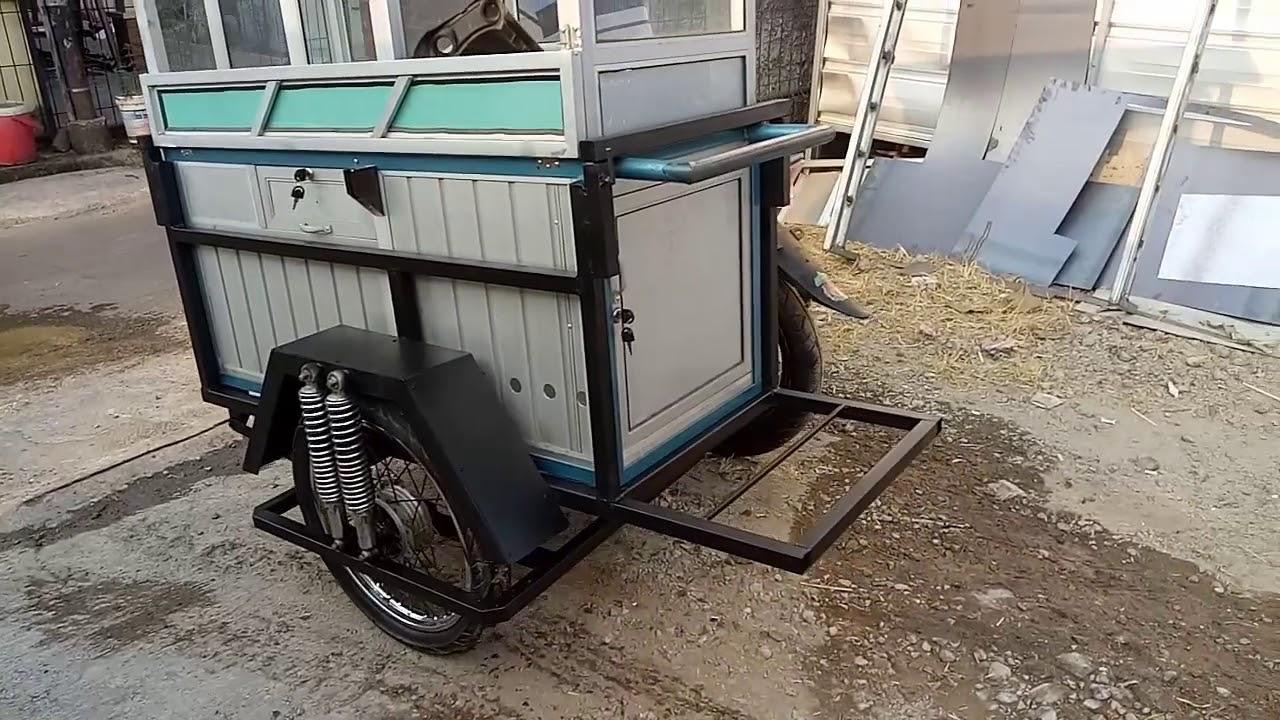 Gerobak Motor Untuk Jualan Bakso Keliling Mantulll Youtube Gambar gerobak motor