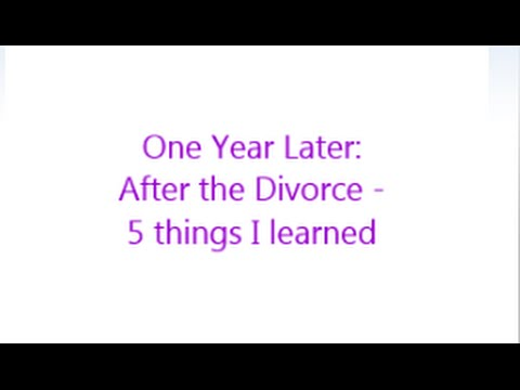 Divorce one year later