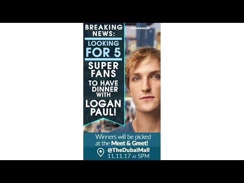 Meet & Greet! Dinner with Logan Paul at The Dubai Mall