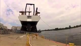 Ship water launch goes wrong