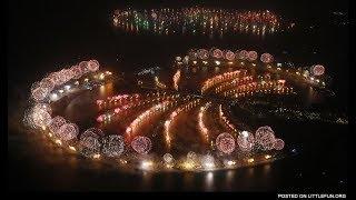 Dubai palm island 2019 fireworks