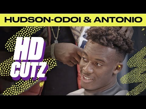 Callum Hudson-Odoi and Michael Antonio duscussing best players they have played against