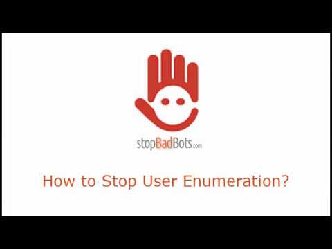 How to Block User Enumeration?