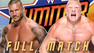 Download Watch Mp4 Videos WWE Summerslam 2016: Brock Lesnar vs. Randy Orton Full Match Highlights