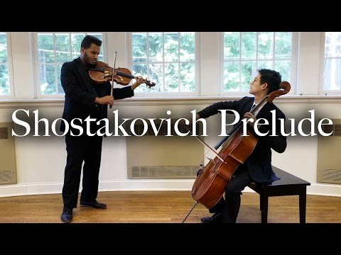 Shostakovich Prelude for Cello and Viola | Nathan Chan and Michael Casimir