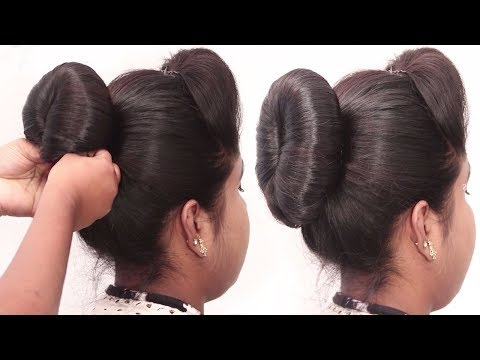 3 Easy Cute Bun Hairstyles with Trick | very simple wedding hairstyles || prom Updo Hairstyle