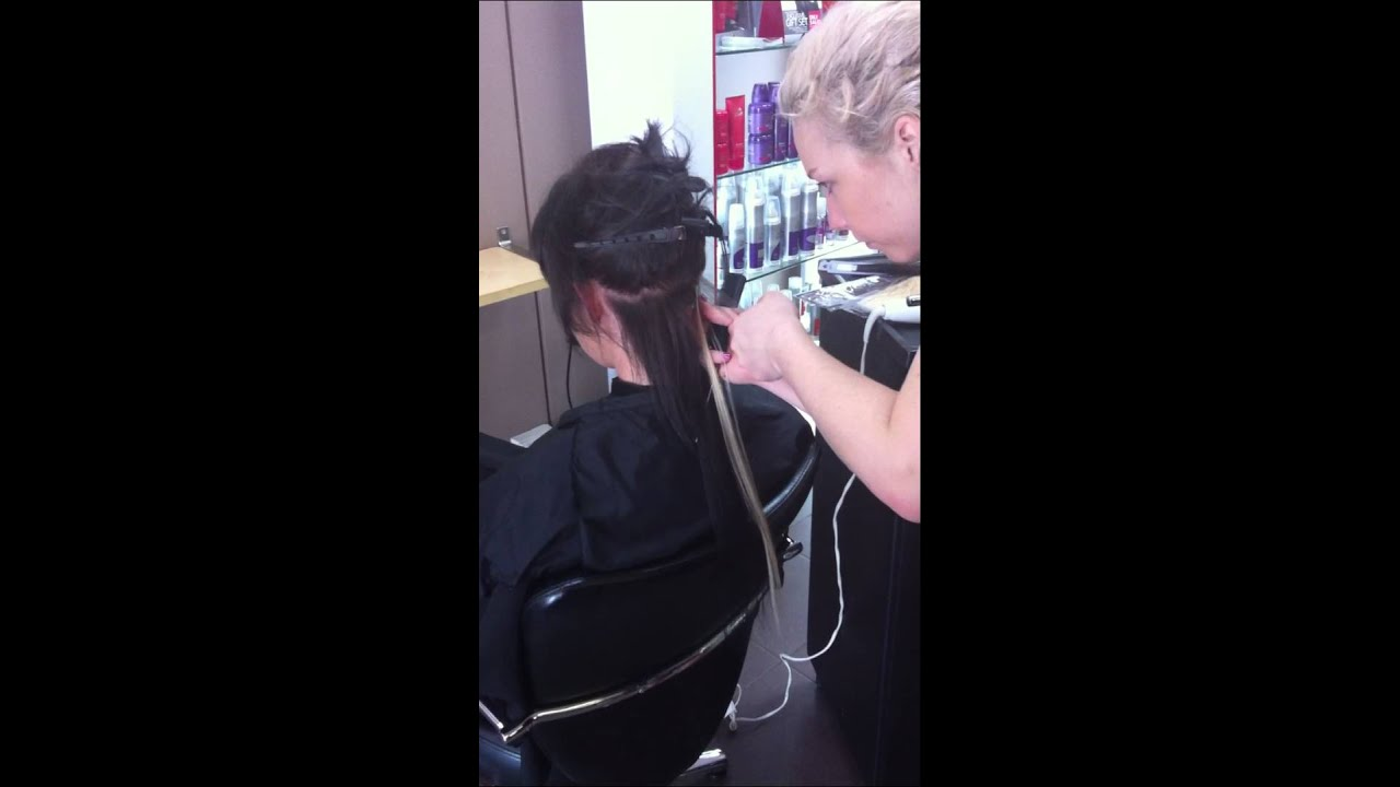 Destination U Applying Two Tone Hair Extensions In Gosnells Perth