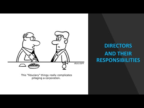 Class 4  Directors Fiduciary Duties and Conflicts of interest  Recordings