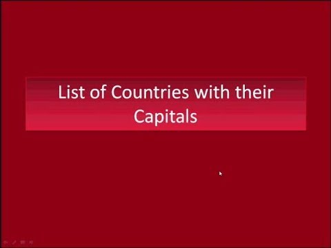 all countries and their capitals