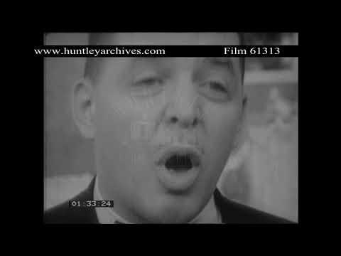 Rev Albert Clegg on oppression in Detroit, 1960's.  Archive film 61313