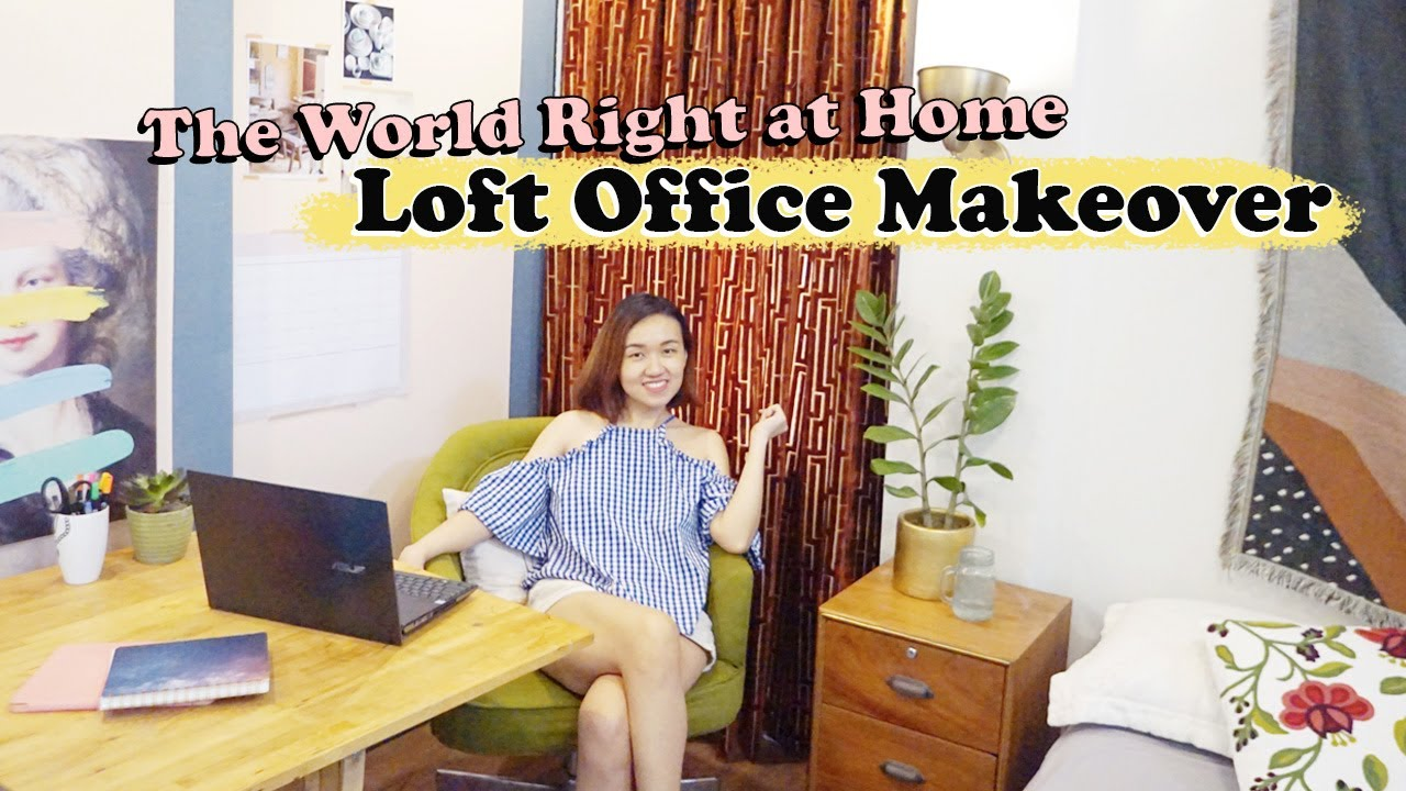 Home Office Makeover // My New Work From Home Set-Up // Creative Loft // by Elle Uy