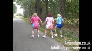 Three sissybabies walking down the lane