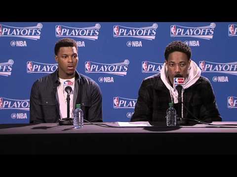 Raptors Playoffs Post Game: Kyle Lowry & DeMar DeRozan - April 16, 2016