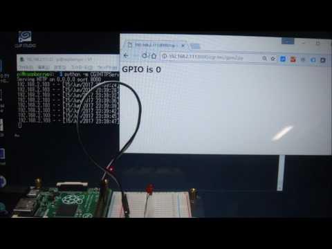 Blinking LED on Raspberry Pi via CGI Server