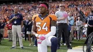NFL Player Stopping National Anthem Protest