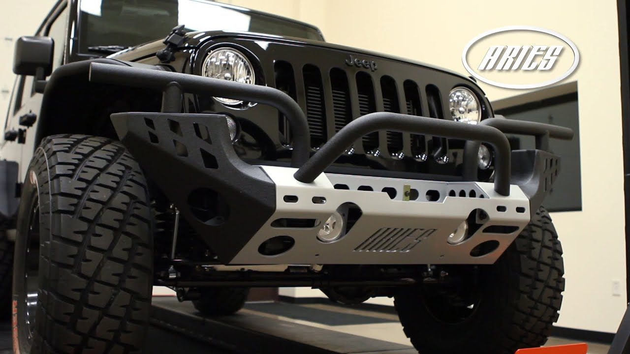 Jeep Wrangler Bumpers >> ARIES Jeep® Wrangler: Modular Front Bumper - YouTube