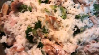 Broccoli Rice Chicken Casserole.. Large Family