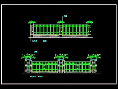 【Autocad Block Download】Wrought iron railing fence design ...
