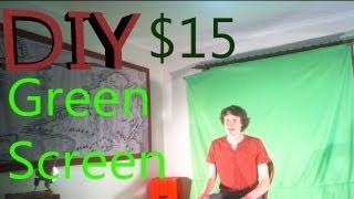 Super Awesome Diy Green-screen Setup! Fo' Cheap!