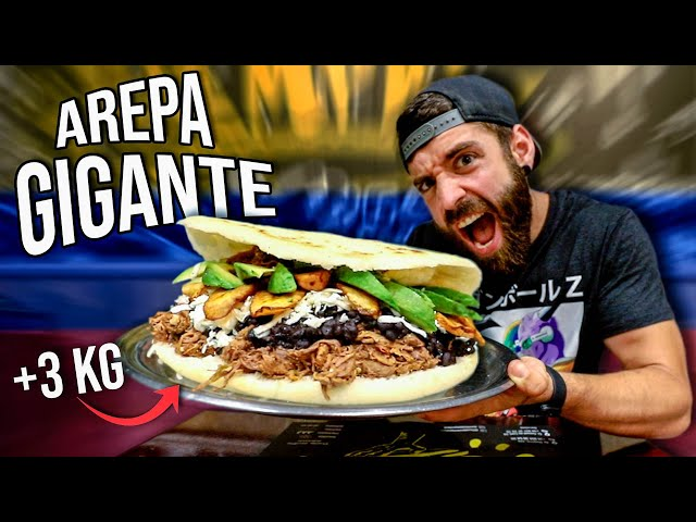 AREPA GIGANTE +3KG en TIEMPO RECORD *RETO DE COMIDA DE LATINOAMERICA*