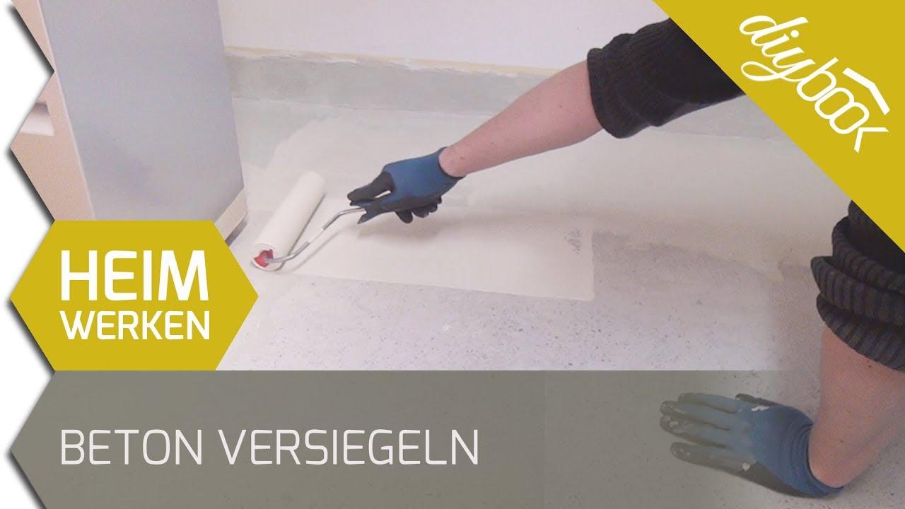 Beton versiegeln - 2k Epoxidharz Bodenbeschichtung - YouTube