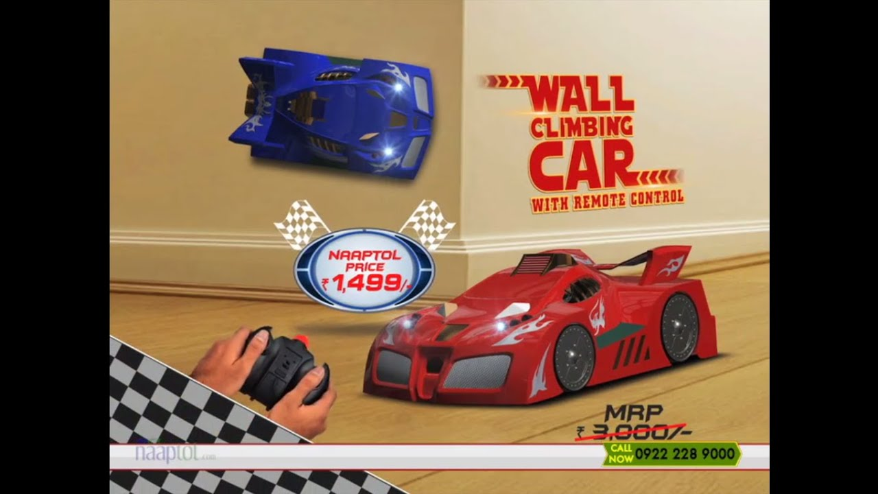 Wall Climbing Car With Remote Control Red Or Blue Youtube