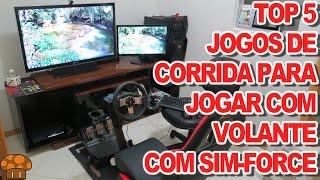 TOP 5 Jogos de Corrida Para Jogar Com o Volante - Canal Sim-Force(Bruno)