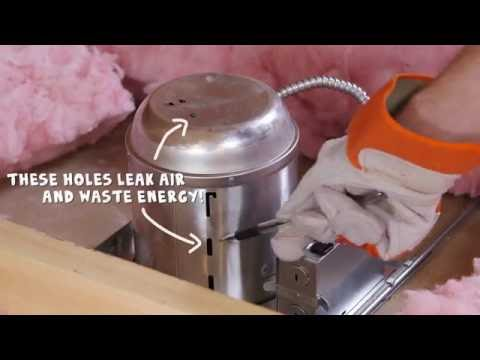 Air sealing recessed lights | DIY home improvement tips | Rule Your Attic! With ENERGY STAR