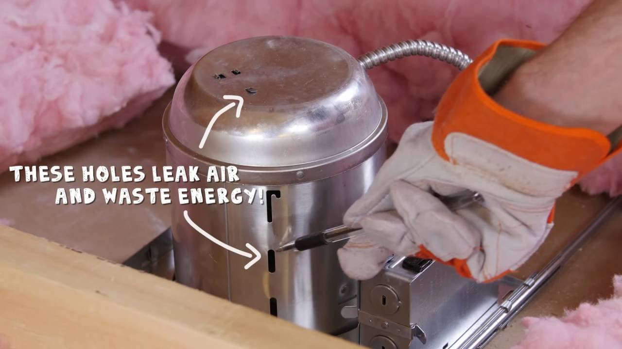 air sealing recessed lights diy home improvement tips rule your attic with energy star